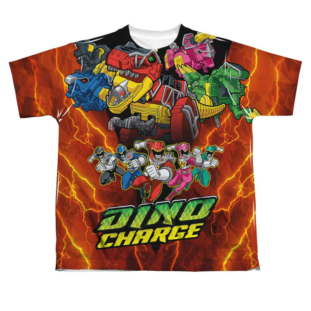 Power Rangers Mighty Morphin Zord Power Big Boys Sublimation Shirt