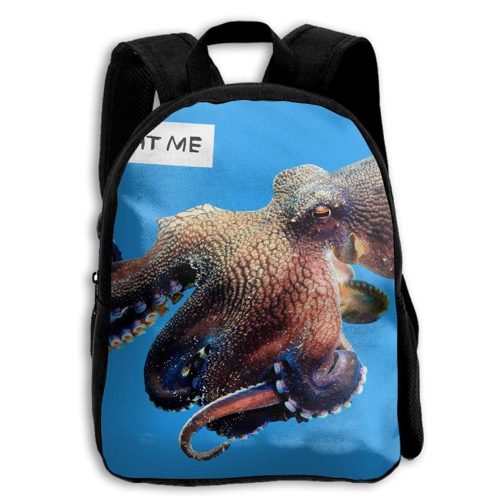 fidaljf Eat Me Ocean octopus. JPEG子供の3dプリントファスナー付き旅行バッグ学校バックパック B07DN935CS