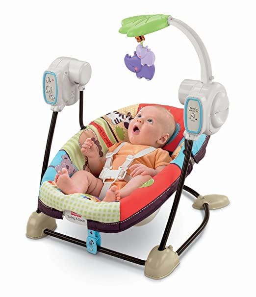 Fisher-Price SpaceSaver Swing & Seat, Luv U Zoo