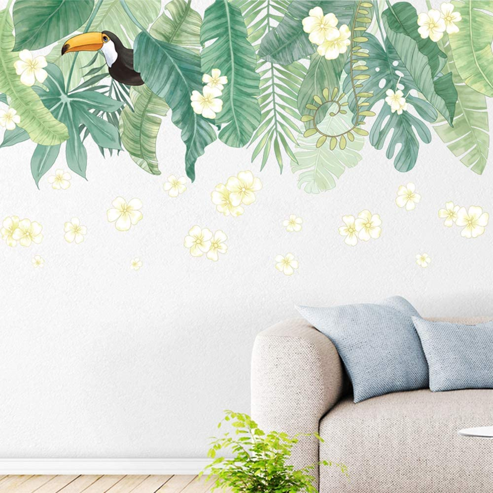 Amazon 不二玩家 ウォールステッカー 花 鳥 インコ 壁紙シール 植物