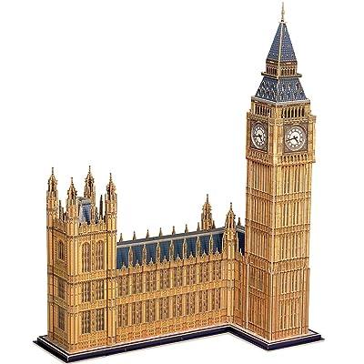 CubicFun MC087h Big Ben World's Great Architectures UK 3D Puzzle, 117 Pieces: Toys & Games