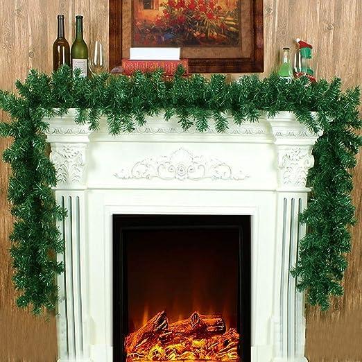 Wjf Decoración de Navidad de la Guirnalda de Estilo Victoriano Interior Long Green Pine guirnaldas Festivas de Navidad for chimeneas de Escalera (Color : 1pc): Amazon.es: Hogar