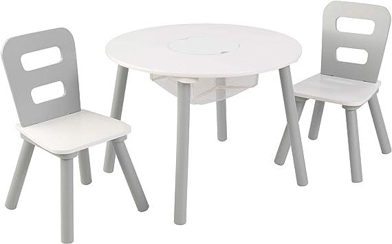 KidKraft 26166 Juego de mesa infantil redonda con almacenamiento y ...