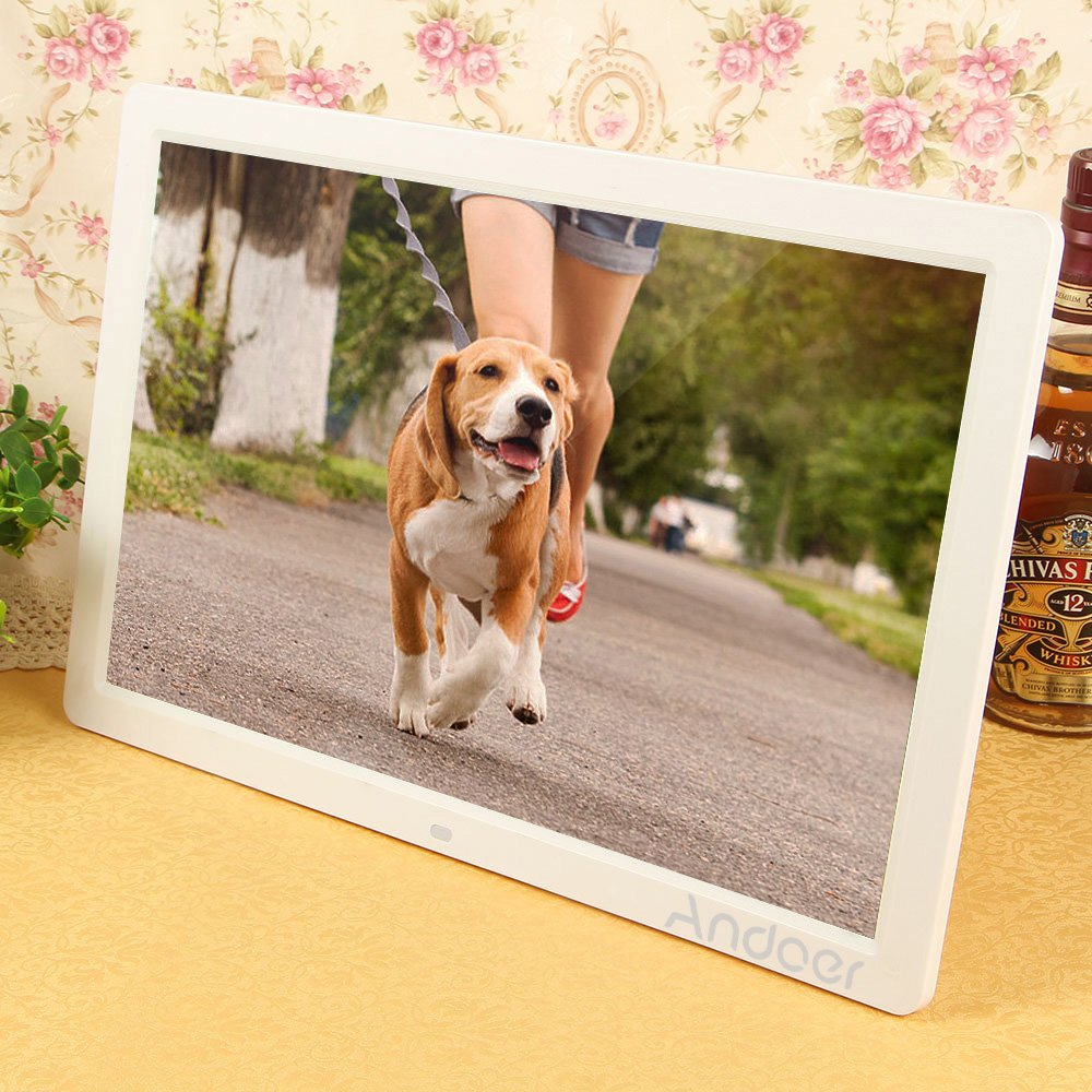 Amazon andoer 17 led digital photo picture frame high amazon andoer 17 led digital photo picture frame high resolution 1440x900 scroll caption 1080p advertising machine mp3 mp4 with remote control jeuxipadfo Image collections