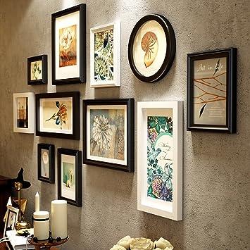 Kreative 11 Bilderrahmen Sammlung Massivholz Foto Wand, Wohnzimmer  Esszimmer Schlafzimmer Korridor Treppe DIY Wand Hintergrund