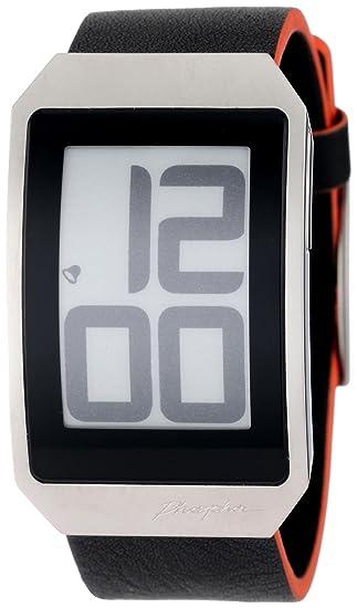 Phosphor DH02 - Reloj de Pulsera Mujer Hombre, Piel, Color Negro: Amazon.es: Relojes