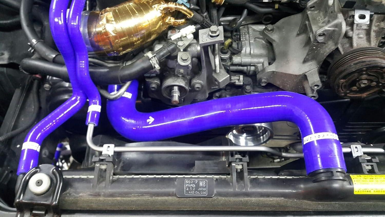 Autobahn88 Kit de la manguera de radiador refrigerante de silicona, Modelo ASHK255-BL-WC (Azul - con sistema de abrazadera): Amazon.es: Coche y moto
