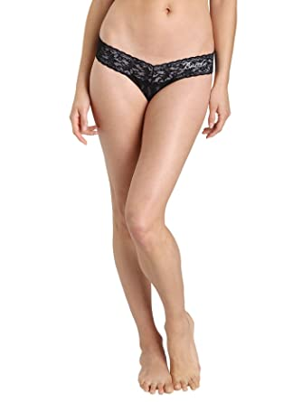 4f43b0959f23aa Hanky Panky Bride Low Rise Thong Black at Amazon Women s Clothing store