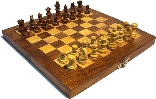Ajedrez 31x31cm madera tablero figuras juego de mesa: Amazon.es: Hogar