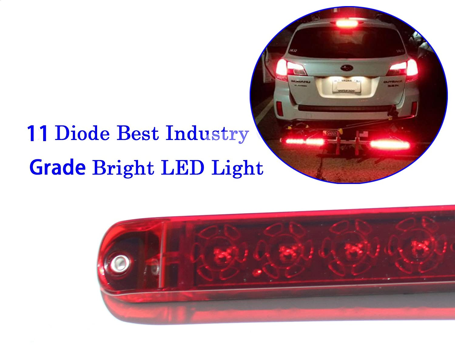 Kai Tai Waterproof Red 17 Inch Tail Led Light Bar Pair Wiring Third Brake On Truck Cap Automotive