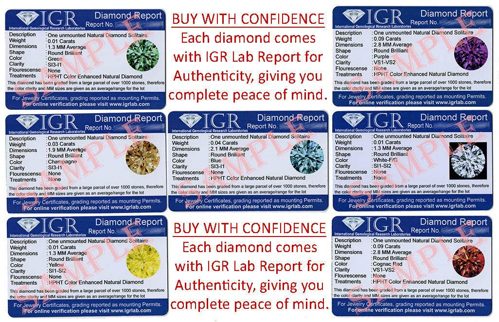 CERTIFIED 3.5 MM / 0.17 Cts. Natural Loose Diamonds, Pack of 2, Fancy Blood Red Color Round Brilliant Cut VS1-VS2 Clarity 100% Real Diamonds by IndiGems