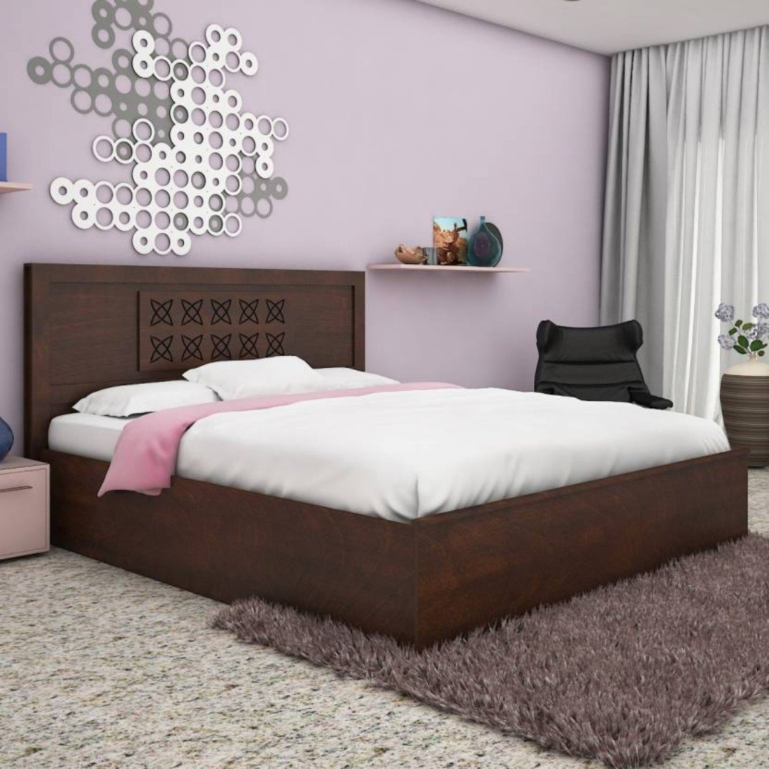 Hometown Astra King Size Bed (Wenge)