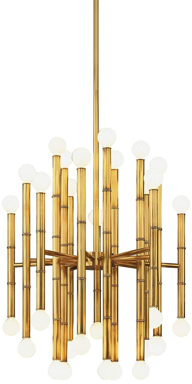 Jonathan Adler Meurice Collection 30-Light Brass Chandelier