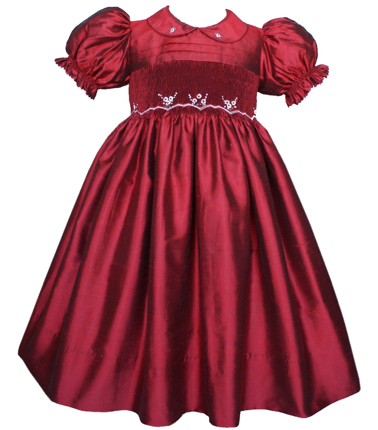 Carouselwear Ruby Stunning Silk Flower Party Girls Dresses for the Holidays
