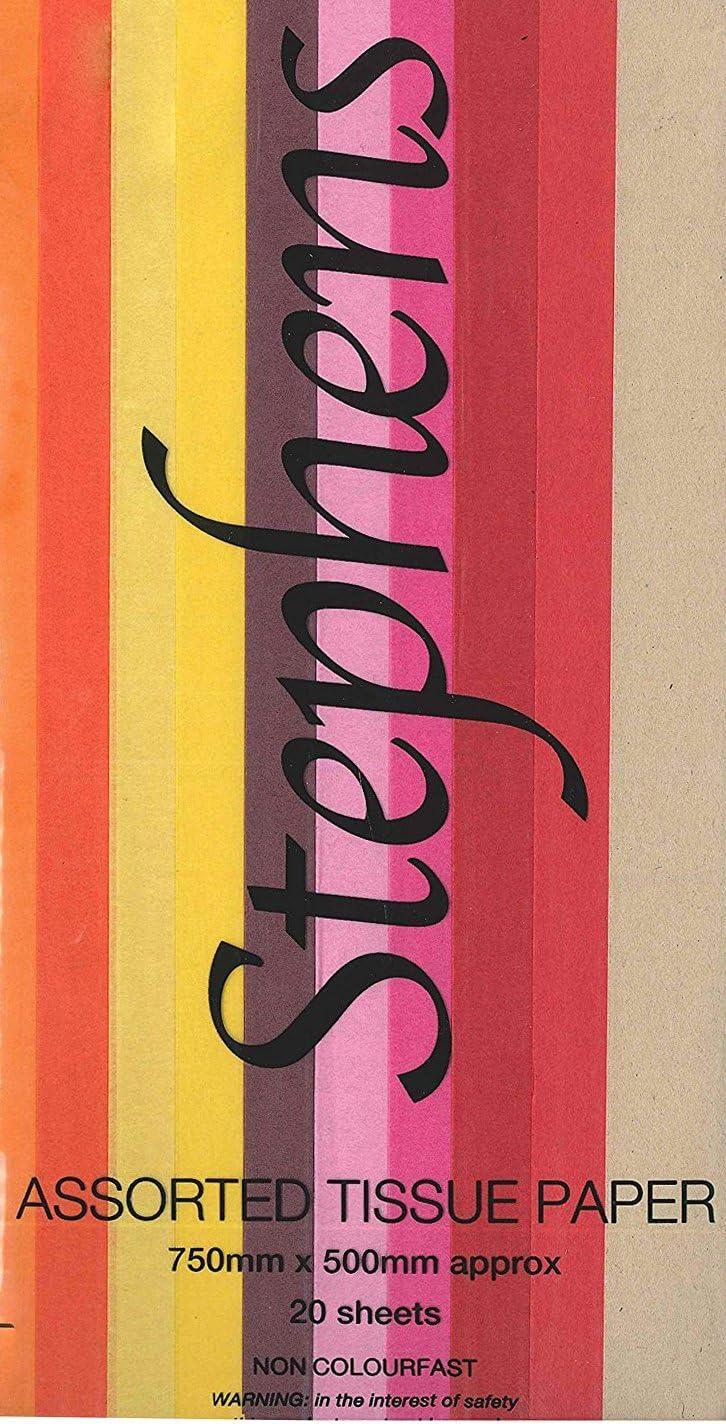 10 Feuilles Bleu Clair Papier de Soie Stephens 750 x 500 mm
