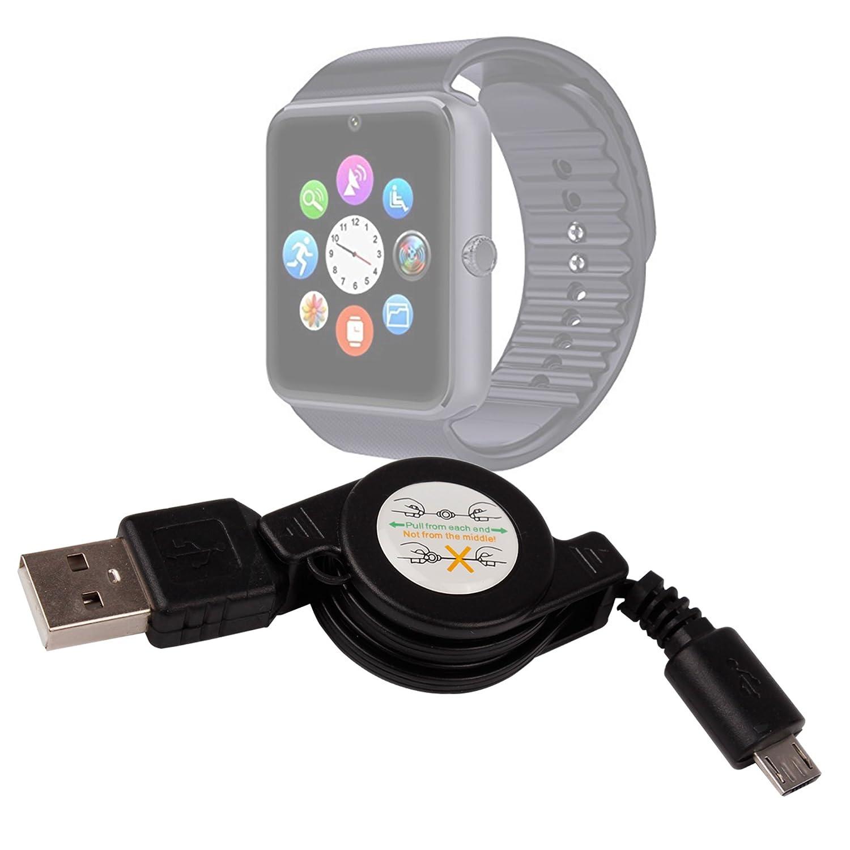 DURAGADGET Cable MicroUSB Retráctil para Smartwatch Mobiper ...
