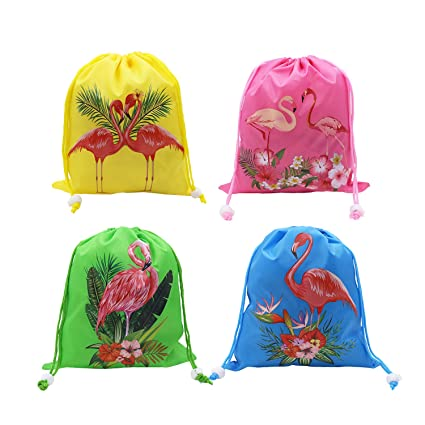 c1a32ef61eba Flamingo Party Favors Bags (12 Pack) Flamingo theme Birthday Party Goodie  Bag Gift for Kids Boys and Girls