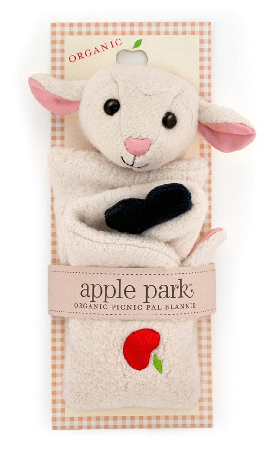 Apple Park Picnic Pals - Lamby Blankie, Blanket Baby Toy for Newborns, Infants, Toddlers - Hypoallergenic, 100% Organic Cotton