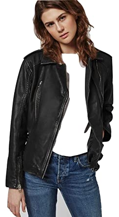 799a3bf309 Topshop Tall Black Oversized Biker Leather Jacket Coat Outerwear UK 12 EURO  40 US 8 - Brand New With Tags  Amazon.co.uk  Clothing
