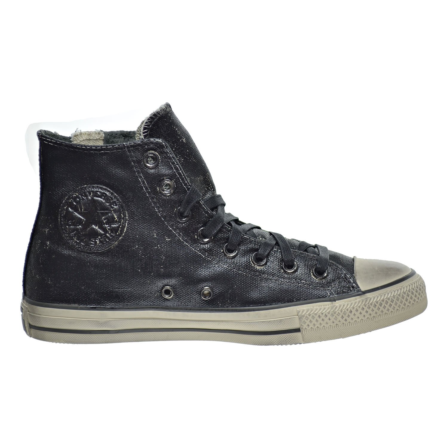 7b563ea6c135 Converse by John Varvatos Distressed Painted Side Zip Hi Top Black (6.5  D(M) US Men)  Amazon.ca  Shoes   Handbags
