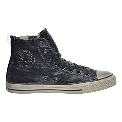 Converse by John Varvatos Distressed Painted Side Zip Hi Top Black (6.5 D(M