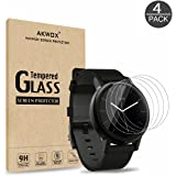 AKWOX (Pack of 4) Tempered Glass Screen Protector for Moto 360 42mm (2nd Gen), [0.3mm 2.5D High Definition 9H] Premium…