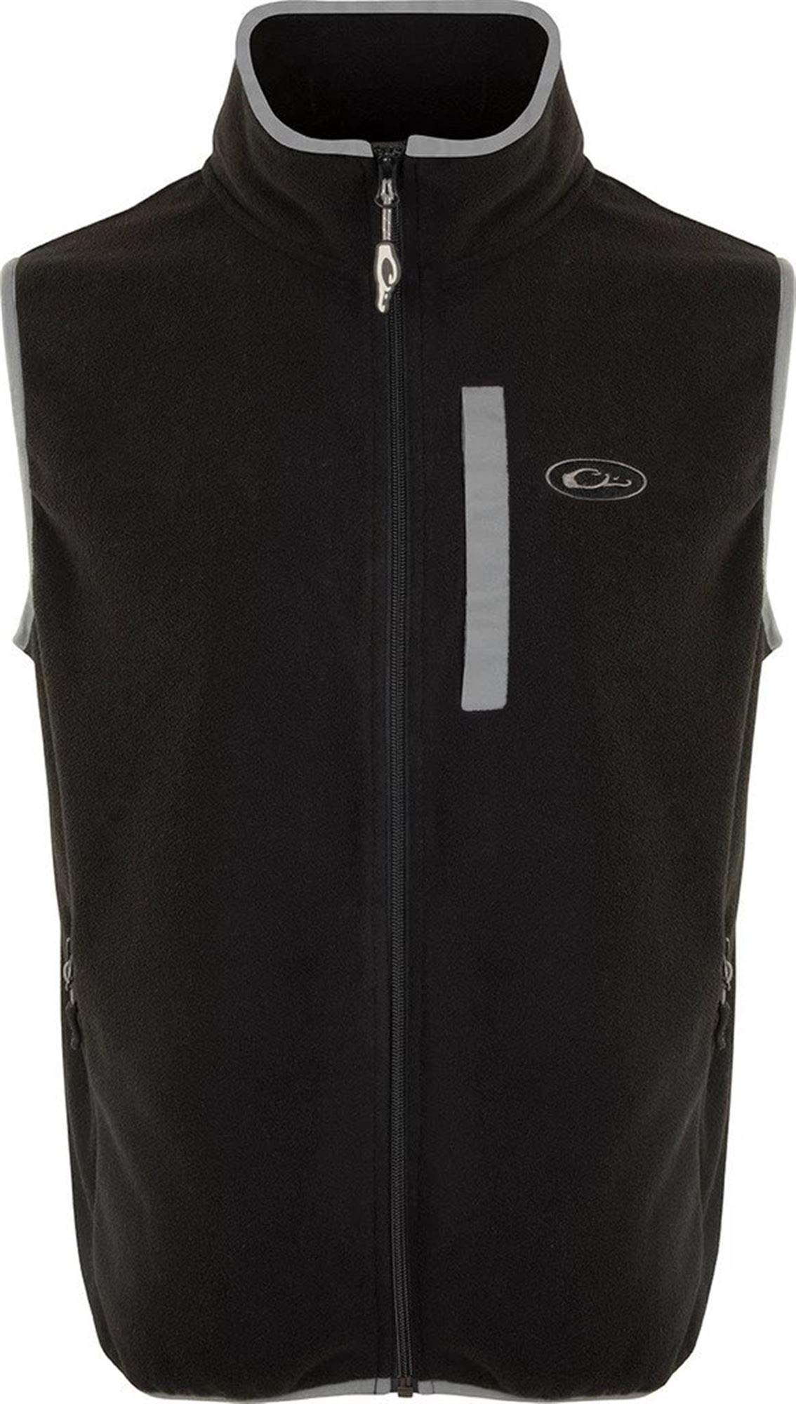 Drake Youth Camp Fleece Vest Black/Charcoal 10 by Drake