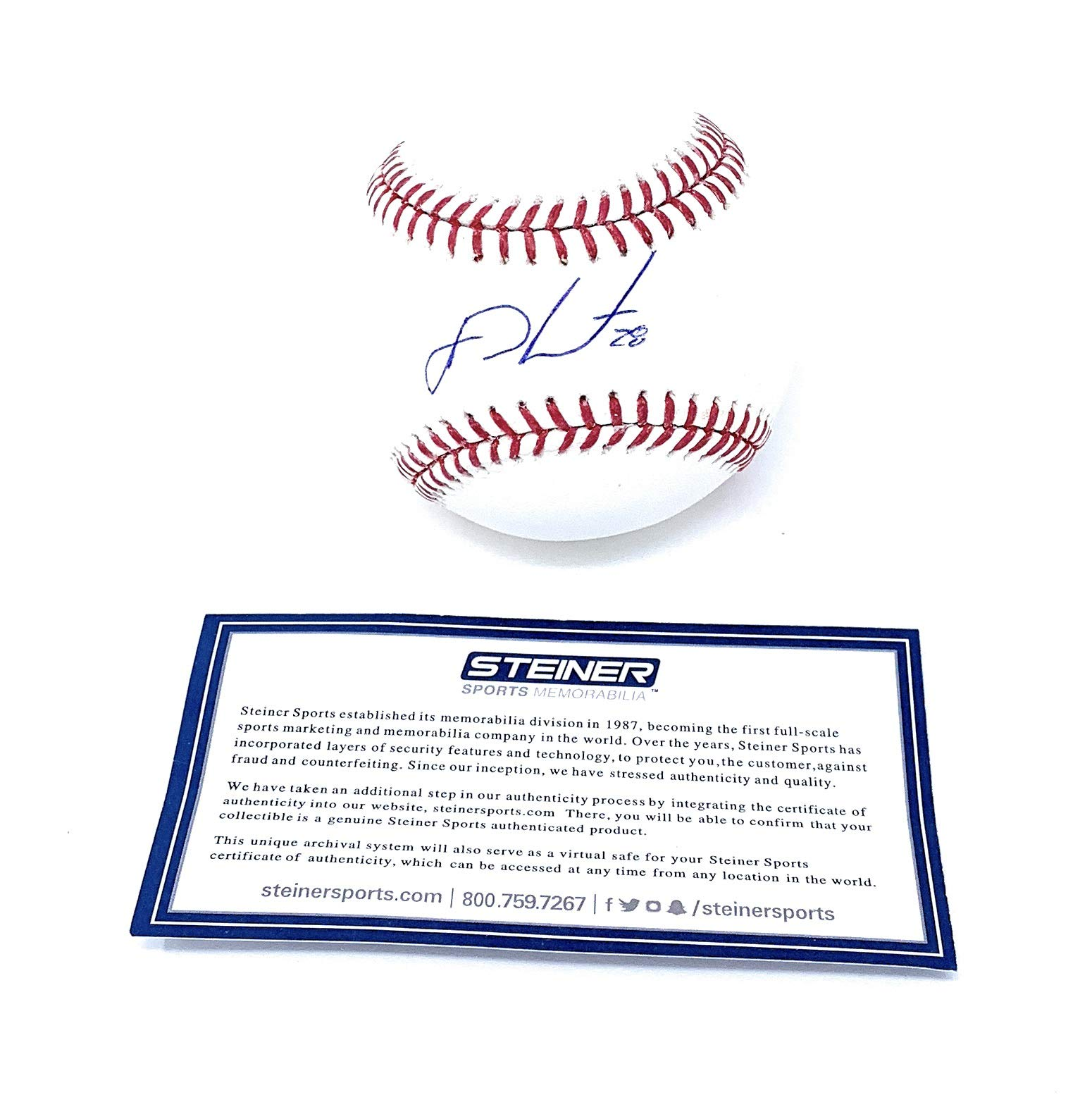 JD Martinez Boston Red Sox Signed Autograph Official MLB Baseball Steiner Sports Certified