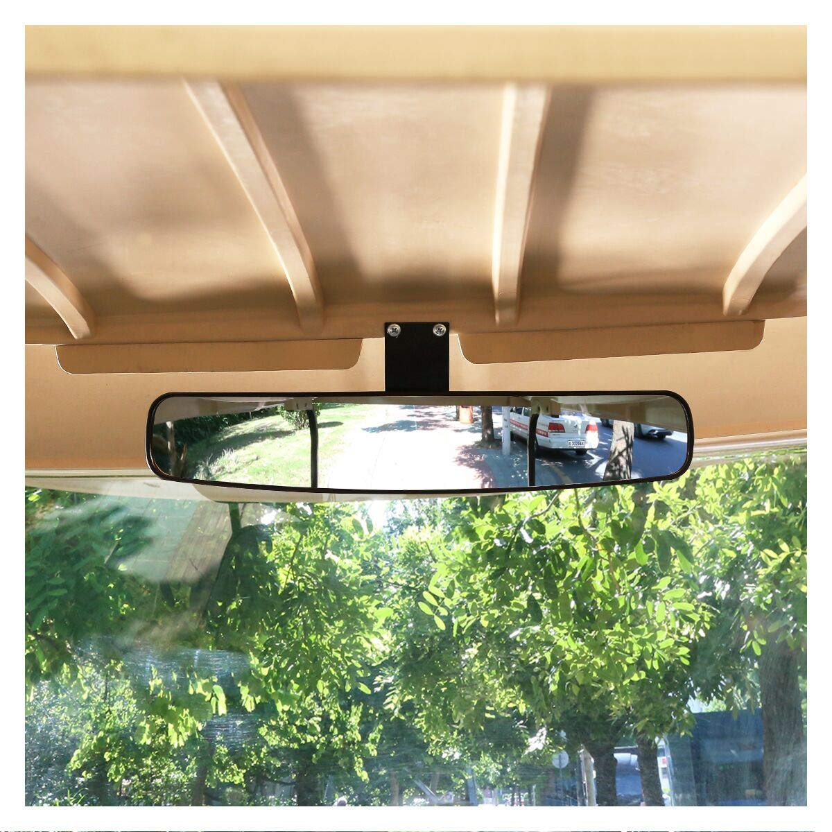 10L0L Wide Rear View Convex Golf Cart Mirror for EZ Go, Club Car, Yamaha by 10L0L