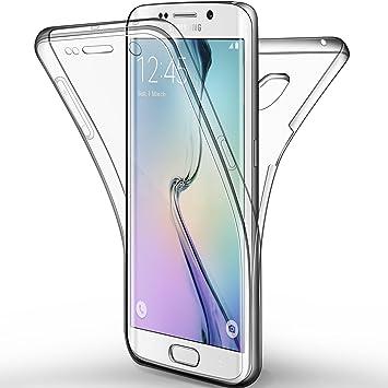 Leathlux Funda de gel de silicona Tpu de protección completa para Samsung Galaxy S6 Edge Transparente: Amazon.es: Electrónica