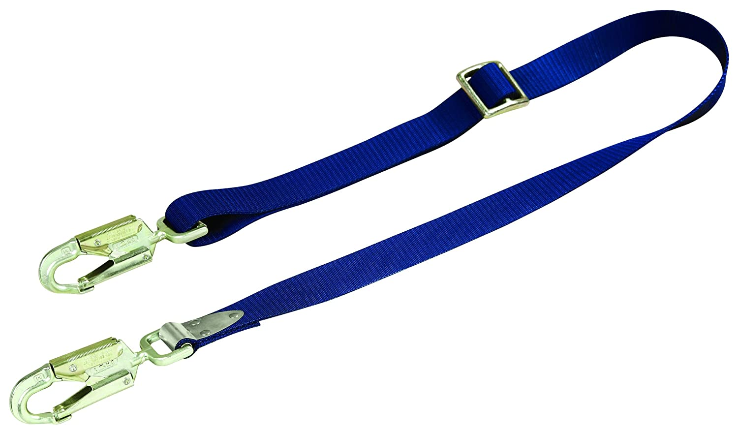 3M DBI-SALA 1234030 Adjustable Web Positioning Lanyard, 6-Foot Single-Leg, With Swiveling Snap Hooks At Each End, Blue by 3M Fall Protection Business B00HQ20RHQ