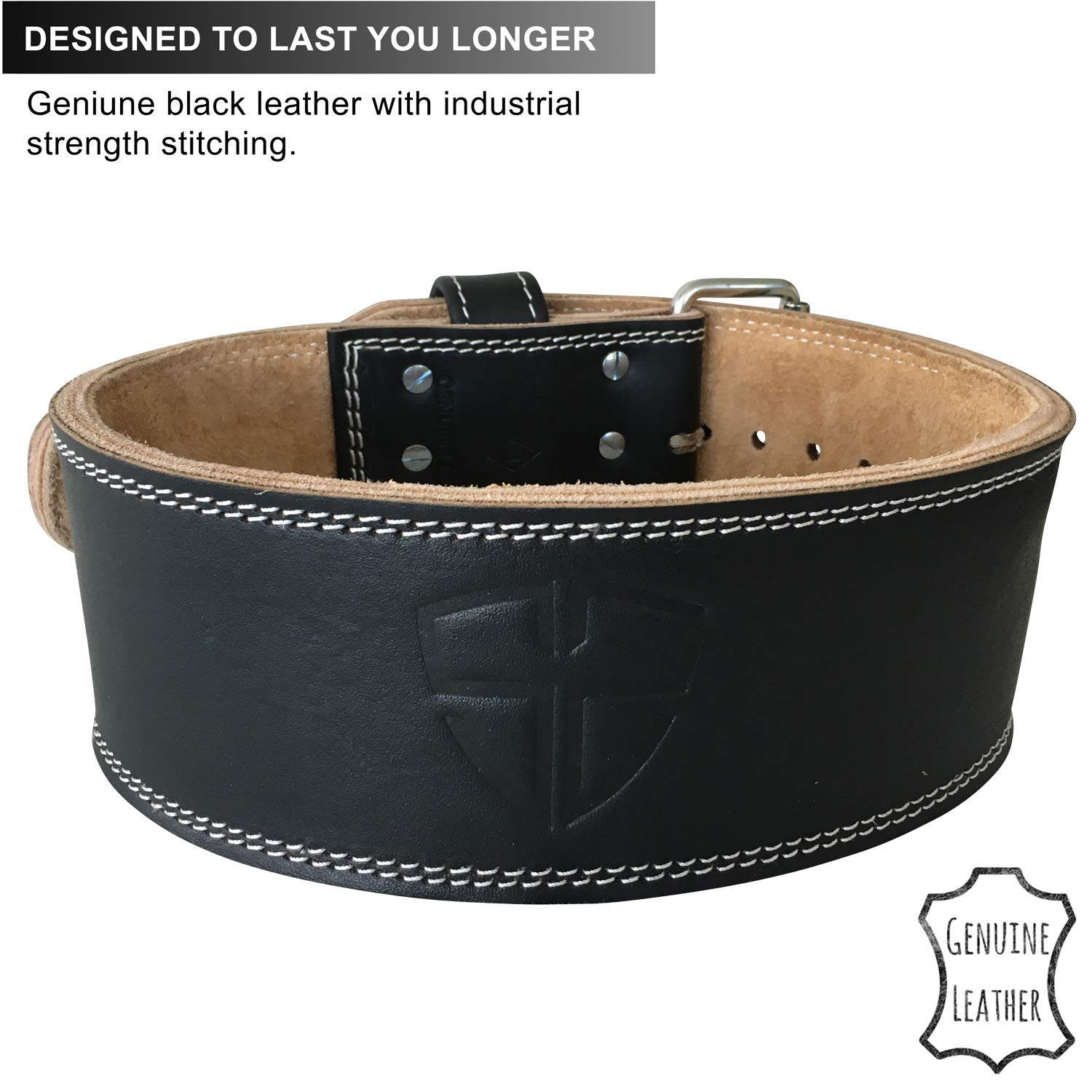 Steel Sweat Weight Lifting Belt - 4 Inches Wide by 10mm - Single Prong Powerlifting Belt That's Heavy Duty - Genuine Cowhide Leather - Medium Texus by Steel Sweat (Image #6)