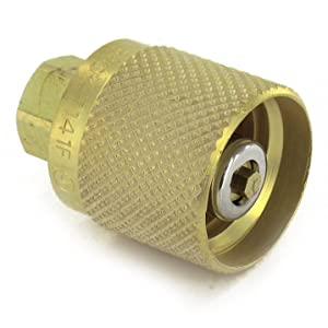 """Rego 7141F Quick Disconnect Service Check Valve Connector, 1-1/4"""" ACME Female Inlet x 1/4"""" NPT Female Outlet"""