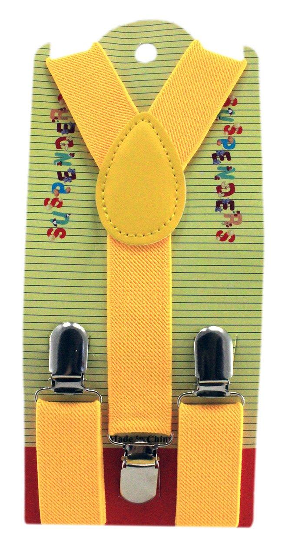 Enimay Kids Adjustable Suspenders Solid Yellow