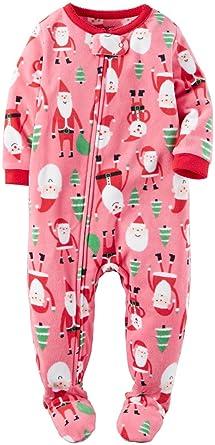 Amazon.com  Carter s Baby Girls  1 Piece Fleece Sleepwear  Clothing 659ded938