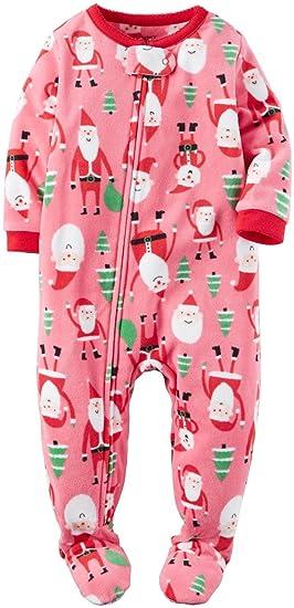 Amazon.com  Carter s Girls  Toddler 1 Piece Fleece Sleepwear  Clothing 6f434cd90