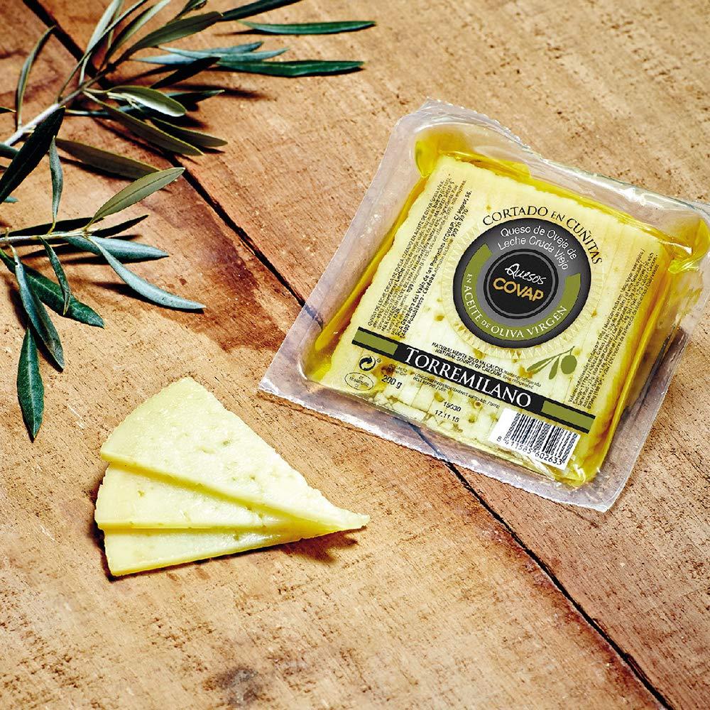 Ibéricos COVAP,queso de oveja de leche cruda viejo torremilano,cortado en aceite de oliva virgen,6 de 200 gr. (Total 1.2 kg.): Amazon.es: Alimentación y ...
