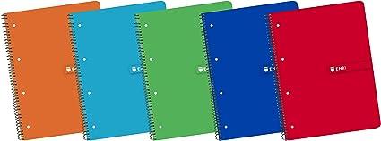 Enri 100430095 - Pack de 10 cuadernos en espiral, tapa blanda ...