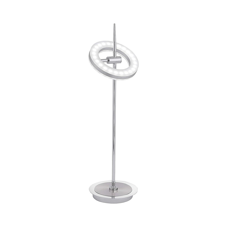 LED Tischleuchte Q-Amy Smart-Home Tisch Lampe für Zigbee CCT Farbwechsel 600 Lumen 12W dimmbar per Fernbedienung 2700 – 5000 Kelvin einstellbar LED Ring schwenkbar Orbit Jupiter modern APP steuerbar