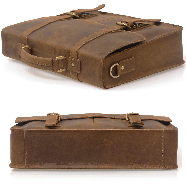 c0f6fb2082 Amazon.com  Jack Chris Men Leather Laptop Bag Briefcase Messenger ...