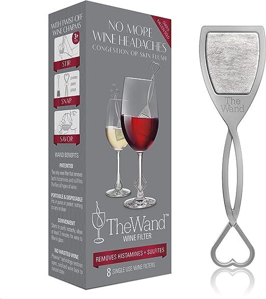 The Wand | El único filtro de vino que elimina las histaminas y ...