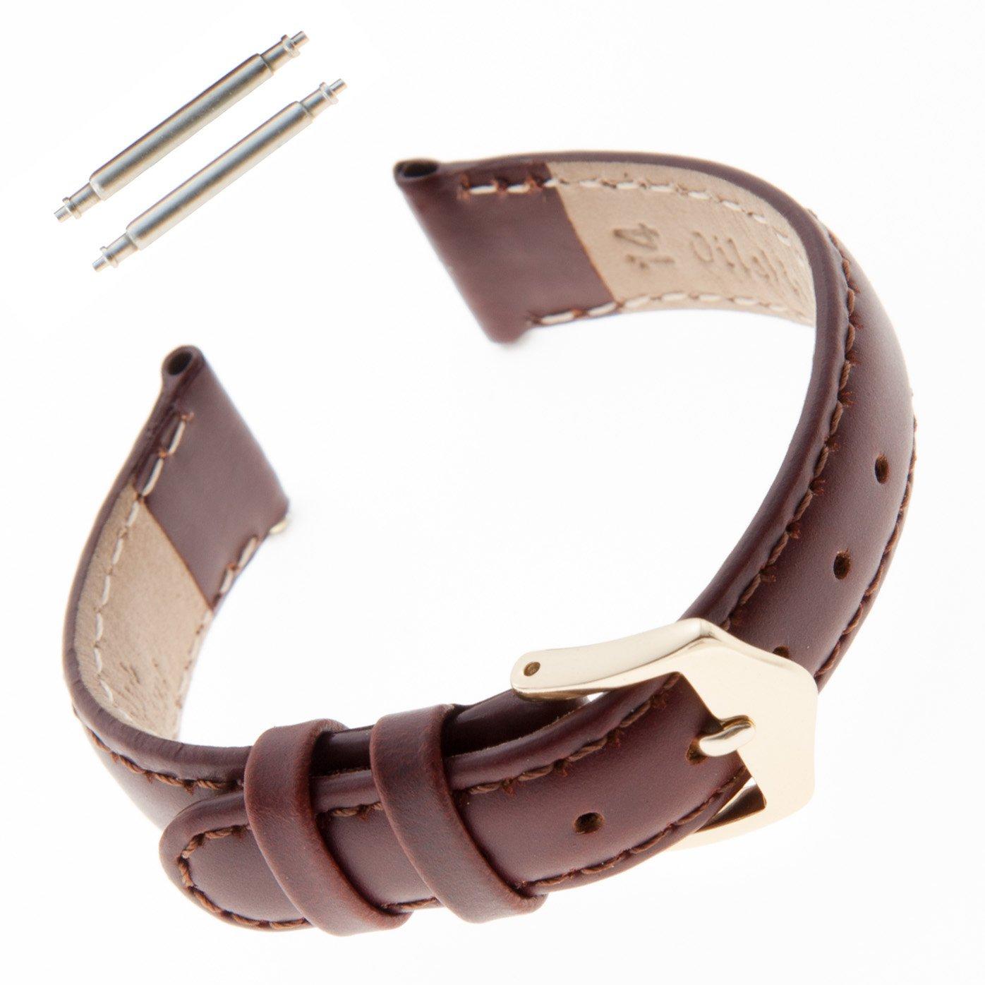 Gilden 10-14mm Water-Resistant Oilskin Leather Ladies Watch Strap MSW63