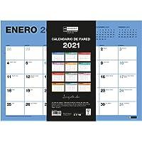 MIQUELRIUS - Calendario de Pared 2021 Chromat - Español, A3 420 x 296 mm con espacio para escribir y apuntar, Un color…
