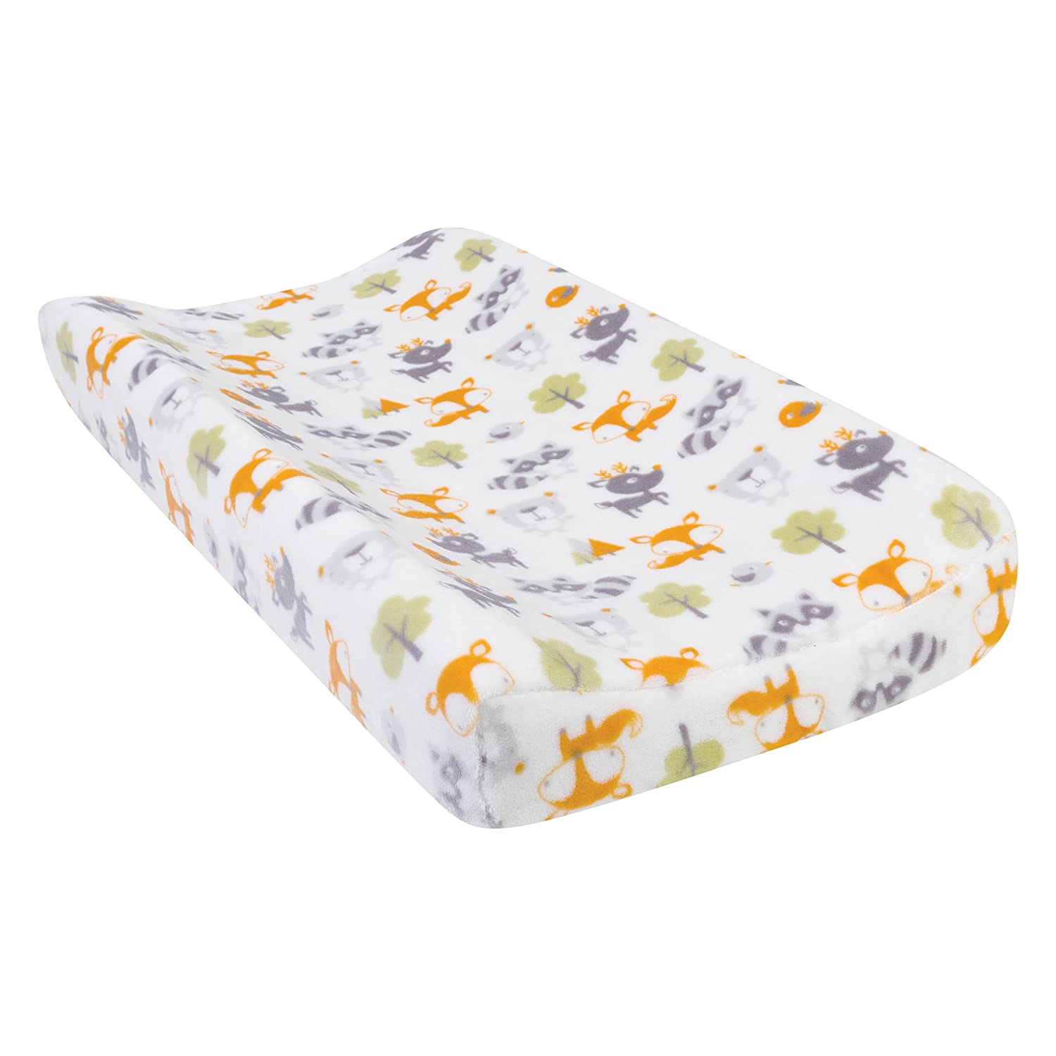 Trend Lab Plush Changing Pad Cover, Green Forest Pals 102895
