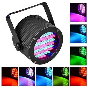 Mini Escenario Luces Par 86 LED RGB Strobe Disco Luz para Fiestas Luces para Discoteca Bar Show Pub KTV Fiesta DJ Luces con Sonido Activado: Amazon.es: ...