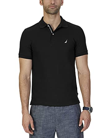 Nautica Mens Slim Fit Polo Shirt Black in Size Medium: Amazon.es ...