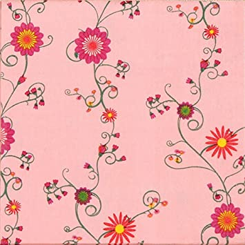 Amazon floral paper napkins pink flower design vintage luncheo floral paper napkins pink flower design vintage luncheo napkins serviettes 40 count 2packs mightylinksfo