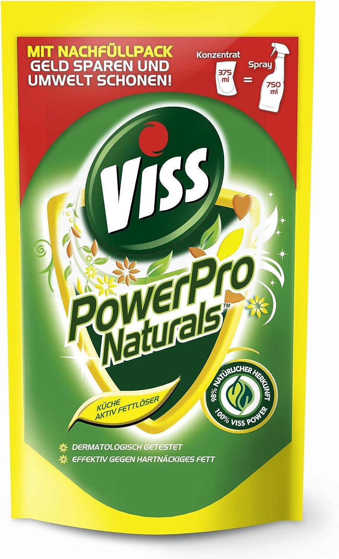Viss PowerPro Naurals Küche Aktiv-Fettlöser, Nachfüllpack 15, 15er