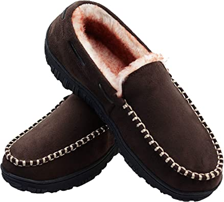 LseLom Mens-Moccasins-Slippers-House