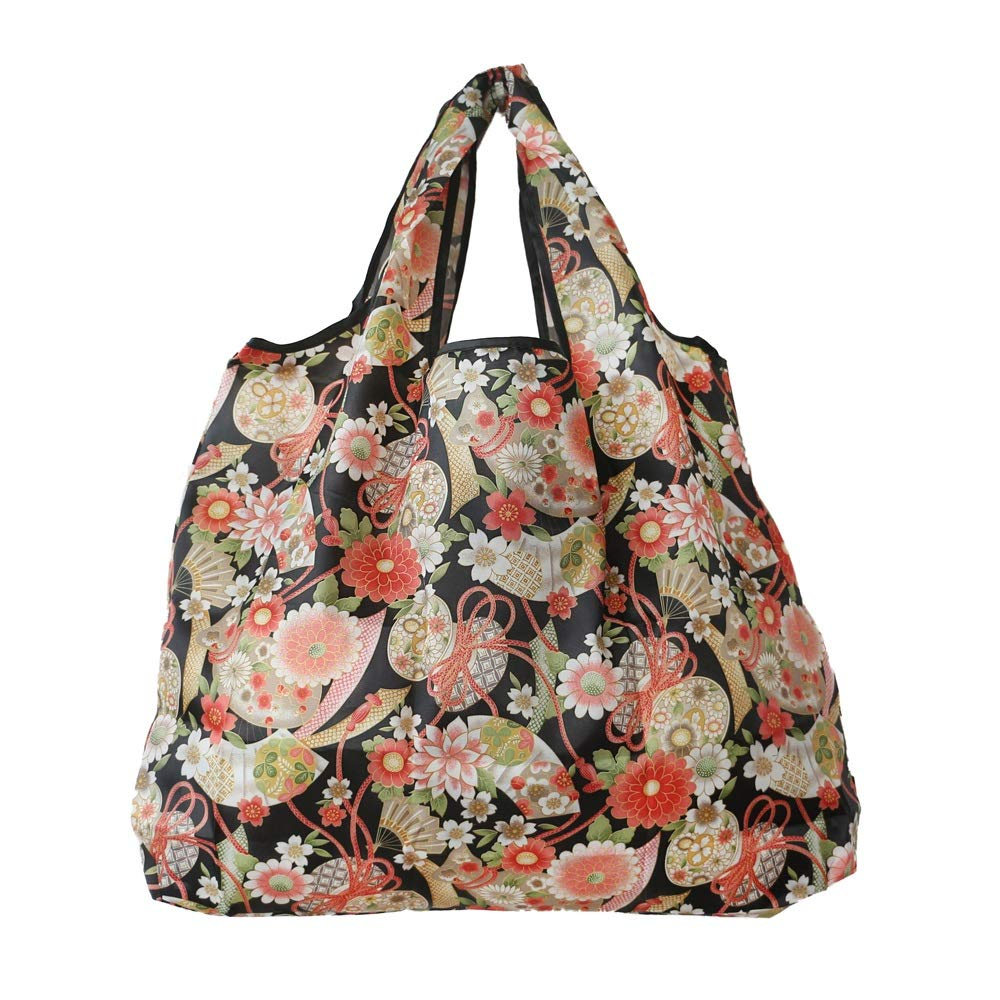 UC7LR Shopping Bag Folding Portable Green Shopping Bag Large Capacity Waterproof Supermarket Out Storage Bag Tote Bag Canvas Bag (Pattern : Flower World) by UC7LR